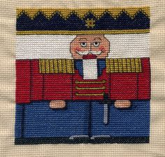 This year I'm very disorganised and i just started my Xmas stitching. I decided to make this lovely nutcracker ...