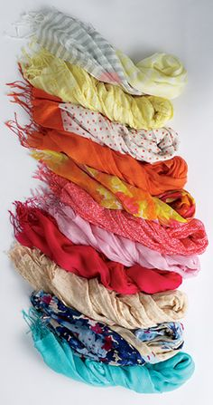 Scarves add a touch of warmth, color and texture to any outfit.