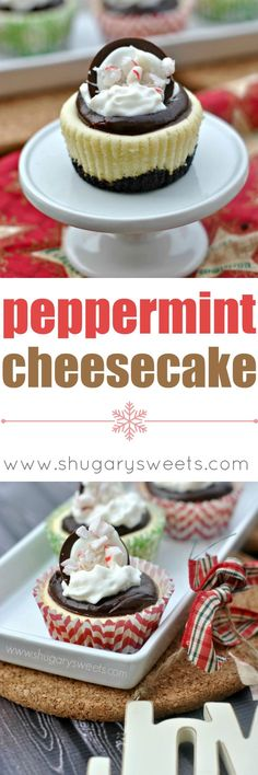 Individual Peppermint Cheesecakes brought to you by PHILADELPHIA Cream cheese! I'm not sure how far in advance you plan for the holidays, but in my family we start making our menus early. Then we call each other and tweak them some more. Then again the ne