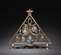 Frame for Nine Miniatures firm of Peter Carl Fabergé (Russian, 1846-1920), fabricated by Johan Viktor Aarne (Finnish, b. 1865)