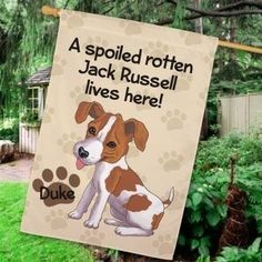 Jack Russell Personalized House Flag