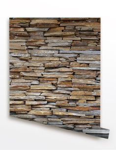 Stone Panel Seamless Wall Paper - Removable Peel and Stick Fabric Wallpaper…