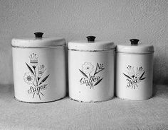Got to love old tin canisters!