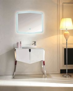 "KUBE RISO 32"" MODERN BATHROOM VANITY - WHITE"