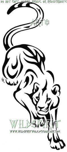 Stalking Panther Tattoo by WildSpiritWolf on DeviantArt - Tattoos Tribal Tattoos, Body Art Tattoos, Small Tattoos, Tiger Tattoo, Cat Tattoo, Tattoo Art, Tribal Animals, Wood Burning Patterns, Stencil Art