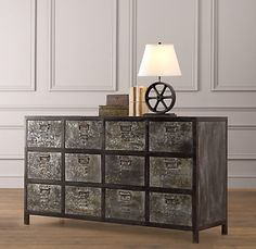 Vintage locker dresser from Restoration Hardware.