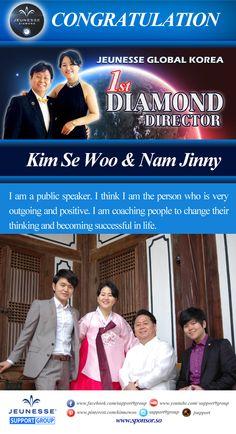 Jeunesse Global Korea 최초 다이아몬드 김세우&남진희 www.sponsor.so
