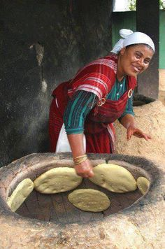 Here some of many traditional Tunisian breads:    Tabouna:   The tabouna bread is a traditional Tunisian bread baked along the walls of a tr...