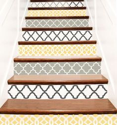 Decorative Vinyl Stair Tile Decals . Trellis Decor by crowbabys