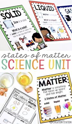 Teachers, exploring matter and energy in kindergarten and first grade is so much fun.  Watching little ones see the objects around them scientifically is exciting and a tad bit adorable.  But nothing beats the surprise as they see matter change before their eyes. States of Matter Unit for Little Learners. #Science #TpT #ScienceExperiments #studymatter #matter #matterunit #statesofmatter #mrsjonescreationstation
