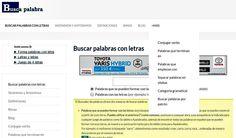 Buscapalabra es un sitio que clasifica palabras en español y ofrece todo tipo de recursos: sinónimos, rimas, antónimos, conjugaciones, definiciones, etc.