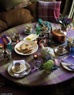 tartan dinner party - Google Search