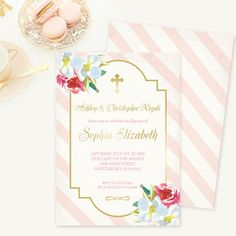 Yellow and Grey Baptism Invitation Neutral Baptism Neutral