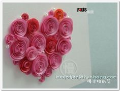 Heart card (Quiling, but paper art crafts)