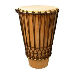 "Ashiko Drum, Large, Mango Wood, 14"" x 24"" by Mid-East Manufacturing. $186.75. An ashiko is a kind of drum shaped like a truncated cone and meant to be played with bare hands. The ashiko drum is played throughout sub-Saharan Africa and the Americas. In eastern Cuba, it is known as boku and is played during carnivals and street parades called Comparsas. Some consider the ashiko to be male and the djembe female.Features:"