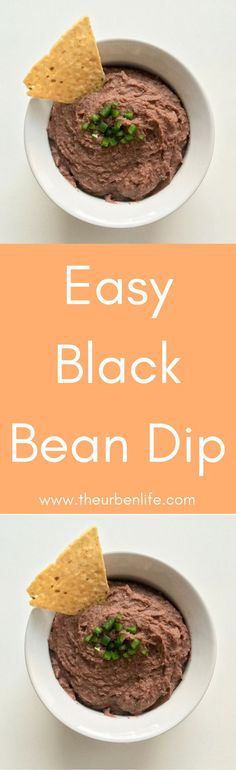 Easy Black Bean Dip Recipe #easyrecipe #dip #vegan #dairyfree