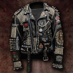 leather jacket with spikes