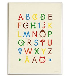 Elisabeth Dunker's new Alphabet poster