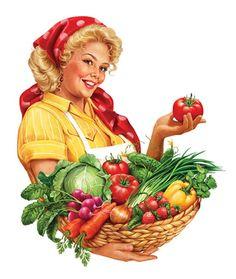 "A domestic harvest - By Inorama Illustrators. - Board ""Art - Harvest, Fertility…"