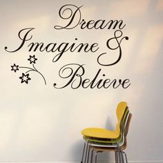 $7.99  - Witkey Dream Imagine and Believe Inspirational Wall Decal Stickers Quotes saying and words DIY Home Decor Vinyl Wall Murals Art Decor Room Home Decoration * To view further for this item, visit the image link. (This is an affiliate link) #WallStickersMurals