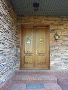 Double Steel Security Door, Hardwood panel.  Multi-point locking system Steel Security Doors, Eagles, Nest, Hardwood, Garage Doors, Outdoor Decor, House, Home Decor, Nest Box