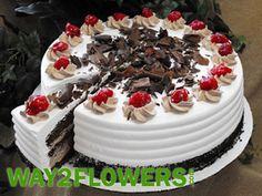 Black Forest Cake Online Pie Cake, No Bake Cake, Fudge Cake, Brownie Cake, Resep Cake, Happy Birthday Cakes, Cake Online, Cake Day, Black Forest Cake