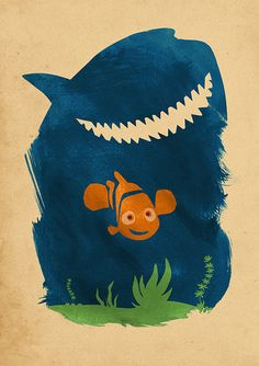 Walt Disney Pixar Finding Nemo Minimalist Movie by moonposter