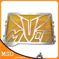 62.00$  Watch here - http://ali4wk.worldwells.pw/go.php?t=32556305284 - yellow color  stainless steel motorcycle accessories radiator guard protector grille grill cover For Yamaha MT07 62.00$