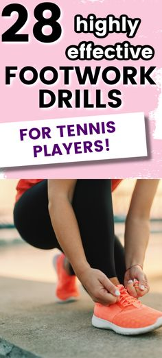 These tennis drills will help you improve your footwork which will make you faster on the court. These simple tennis footwork drills can be done by yourself or with other players on your tennis team during practice. Tennis Games, Tennis Gear, Tennis Tips, Tennis Doubles, Tennis Match, Workout Calendar, Workout Schedule, Weekly Workouts, How To Play Tennis