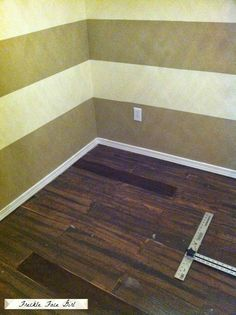 install faux wood plank floor, Freckle Face Girl for Remodelaholic Concrete Wood Floor, Faux Wood Flooring, Diy Flooring, Wood Planks, Cheap Bathroom Flooring, Brown Paper Bag Floor, Paper Bag Flooring, House Makeovers, Freckle Face