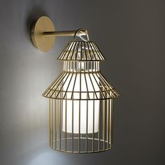 Otra imagen de Lámpara de pared estilo jaula, Cuicuicui AM.PM.