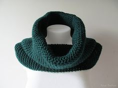 SALE Ready to Ship  Hand Knitted Cowl in Dark by naryaboutique