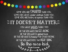 Be the Nice Kid printable Classroom Procedures, School Classroom, Classroom Cheers, Teaching Character, Character Education, Character Counts, Chalkboard Classroom, School Chalkboard, Teacher Name Banners