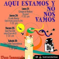 #Repost @teatroandanteac with @repostapp  12 temporada de 1  2  3  @improbar #Temporada2016 #6toAniversario #theater #musical #westend #broadway #Corrientes #lagranvia #Barquisimeto #Lara #Venezuela #Acarigua #Cabudare #Caracas #teatro #talleres #TeatroAndanteAC #SomosElTeatro #SomosLaTroupe