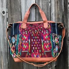 It's Friday! Treat yoself! 🙌🏼 [Shop link in bio] . . . . #friday #friyay #treatyoself #fashion #style #instastyle #instafashion #vintage #huipil #huipilbag #handmade #handwoven #textile #fabric #vibrant #bold #bohemian #boho #bohostyle #bohofashion #gypsy #wanderlust #weekender #fairtrade #sustainablefashion #guatemala #leatherbag