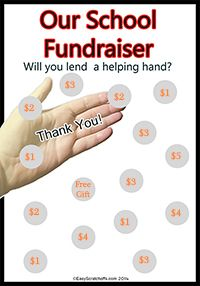 printable fundraiser scratch off card
