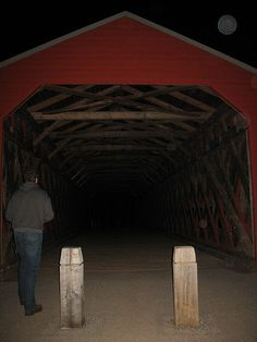 Orbs @ Sach's Bridge, Gettysburg, PA  Ghost hunting 4/9/09 by nikoretro, via Flickr