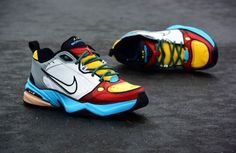 The 50 Best Nike Air Monarch Customs - 'Evil Stewie' by Shme Custom Kicks Dad Shoes, Men's Shoes, Air Max Sneakers, Sneakers Nike, Nike Air Monarch, Painted Sneakers, Chunky Shoes, Custom Shoes, Nike Air Max