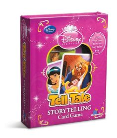 Tell Tale is a great game that makes you the storyteller! Available in several different versions, including Disney Princesses and Toy Story, this game is great to play in a group or alone and perfect for ages 5 and up! All that is required is an active imagination and you are ready to play!