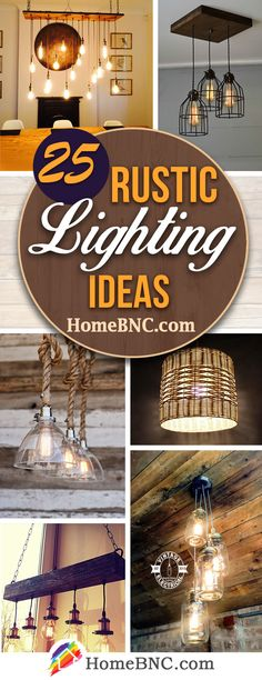 25 fabulous rustic lighting ideas that will give your home a beautiful vintage … - DIY Chandelier Rustic Light Fixtures, Rustic Lighting, Outdoor Lighting, Living Room Lighting, Home Lighting, Lighting Ideas, Decorating Your Home, Diy Home Decor, Diy Chandelier