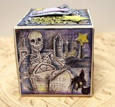 paper, ink and smiles: Stampendous Halloween Artist Trading Block by Wendy Price