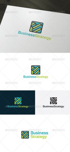 Business Strategy Logo by shaoleen • Fully Editable Logo • CMYK • AI, EPS, PSD, PNG files • Easy to Change Color and Text • Used Font Included In Archive