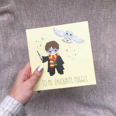 To My Favourite Muggle.  Cute Harry Potter greeting card sold in Urban Outfitters.
