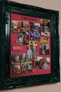 DIY magnetic photo frame