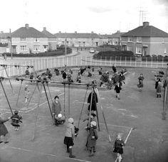 Ballyfermot playground, Dublin. Dublin Street, Dublin City, Old Pictures, Old Photos, Vintage Photos, Old Irish, Irish Celtic, Irish People, Irish Culture
