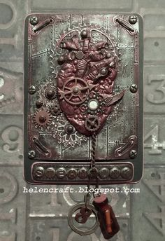 """Notebook cover """"Steampunk's Old Heart"""""""