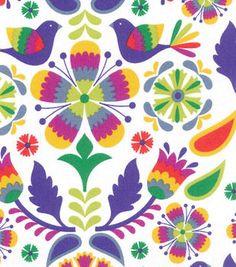Novelty Cotton Fabric-Multi Bird Damask