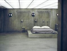 This is your room? She asked in a hushed voice. It wasn't much like she would have expected. The room lay surprisingly bare. He nodded. #bunkerplans