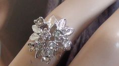 Cluster Cocktail Ring size 10  Excellent by LuisBlindFinds on Etsy, $36.00