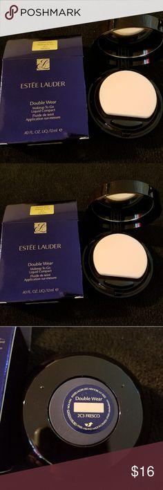 Estee lauder double wear makeup to go. Fresco New. Authentic.   Estee lauder double wear makeup to go liquid compact.  Shade: 2C3 fresco.   Price is firm Estee Lauder Makeup